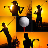 Golf concept collage Royalty Free Stock Photography