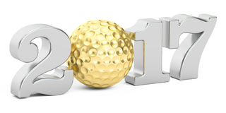 Golf 2017 concept, 3D. Rendering Stock Photography