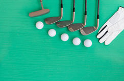 Golf concept : flat lay Royalty Free Stock Images