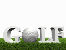 Golf concept on green gras Stock Photography