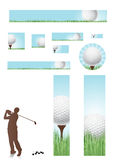 Golf Concept Web banners Royalty Free Stock Images