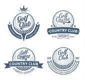 Golf country club logo, labels and design elements Stock Photography