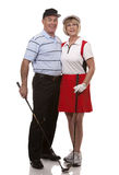 Golf couple Royalty Free Stock Image