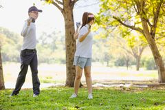 Golf Couple royalty free stock photo