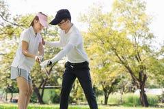 Golf Couple Stock Photos