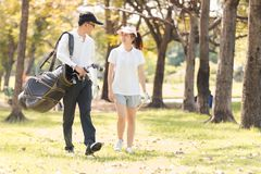 Golf Couple Stock Photography