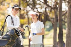 Golf Couple Stock Photo