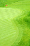 Golf Course. A beautiful golf grass field Royalty Free Stock Images
