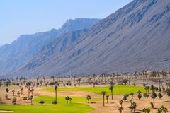 Golf Course. Egypt, the Arabian Peninsula, Taba. Golf Course stock photo