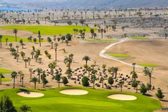 Golf Course. Egypt, the Arabian Peninsula, Taba. Golf Course stock photos