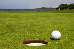Golf Course. With focus on the background Stock Images