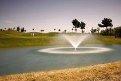 Golf Course. A golf course with fountain Stock Photos