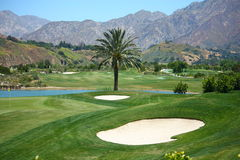 Golf Course. By the Mountains in Los Angeles California stock image
