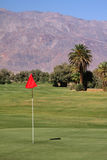 Golf course. Tropical golf course between the mountains Stock Photo