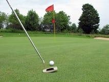 Golf course. Green golf course in spring Royalty Free Stock Photos