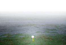 Golf Course. Misty morning in a golf course Stock Image