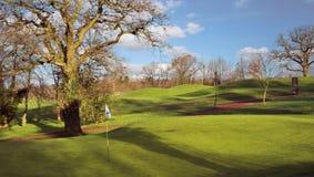 Golf course. In evening winter sunshine (long shadows Stock Photos