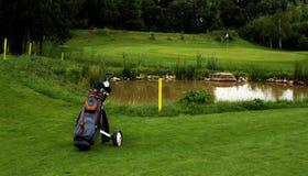 Golf course. Recreation on the golf course Stock Photos