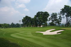 Golf course. A green golf course in a country side Stock Photography