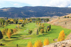 Golf Course. View of a golf course in autumn Royalty Free Stock Images