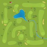 Golf course. Vector plan of generic golf course Royalty Free Stock Photography