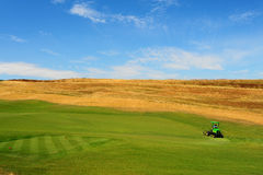 Golf Course. Construction Area of The Golf Course In Tuscany, Italy stock image