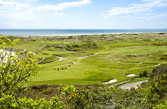 Golf course. Next to the sea Royalty Free Stock Photography