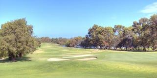 Golf course. A view of a golf course Stock Photos