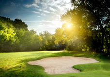 Golf course. Irish idyllic golf course in summer time Stock Image