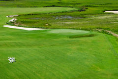 Golf course. Bird eye view Royalty Free Stock Photography