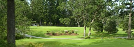 Golf Course. Beautifully manicured golf course in Victoria, BC royalty free stock photography