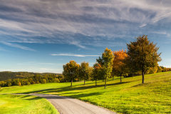 On the golf course. In autumn in Prague Royalty Free Stock Photos