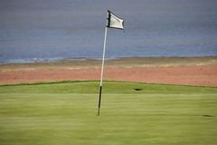 Golf course. African golf course, green blue, sunny Royalty Free Stock Photo