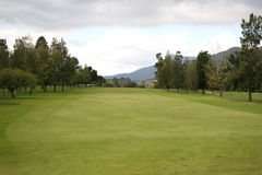 Golf Course. Green Golf Course in Stellenbosch, South Africa during the rain season Royalty Free Stock Images