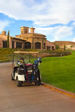 Golf Course. And club house Royalty Free Stock Photo