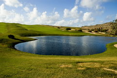 Golf course. Lake in the golf course Stock Photo