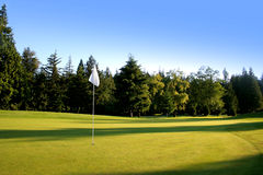 Golf course. Beautiful golf course where men and woman can play golf Stock Photography