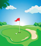 Golf course. Beautiful golf course. Available in vector EPS format Stock Images