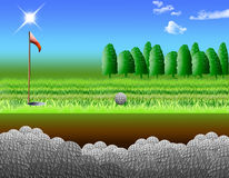 Golf course. Holes of golf that keeps the balls Stock Images