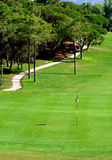 Golf course. Green in Algarve resort (Portugal Royalty Free Stock Images