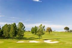 Golf Course. On spring/summer day Stock Photos