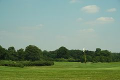 Golf Course. View from the green back down the fairway Royalty Free Stock Images