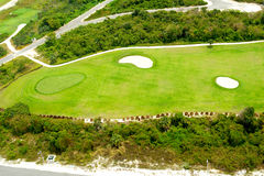 Golf course from above Stock Photography