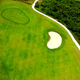 Golf course from above Royalty Free Stock Images