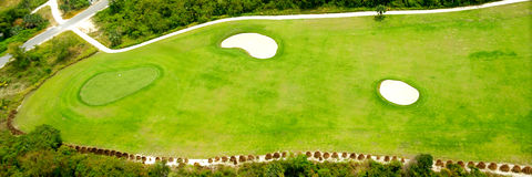 Golf course from above Stock Images