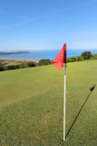 Golf course above woolacombe Stock Photo