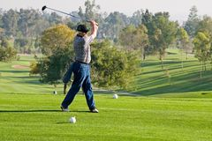 Golf Course Action royalty free stock photography