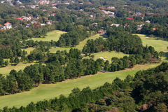 Golf course aerial view 1 Royalty Free Stock Photo