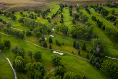 Golf Course Aerial Stock Photography