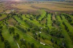 Golf Course Aerial Royalty Free Stock Photos